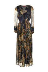 Robe longue imprimée avec taille élastique large